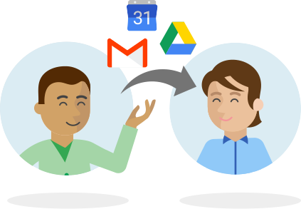 Icon Google G Suite with 2 persons