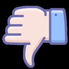 A thumbs down for dislike
