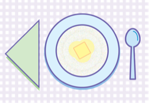 Click image bowl of grits with butter to access details